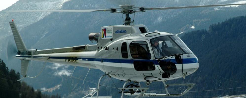 Si cerca un elicottero scomparso nei cieli della Valtellina