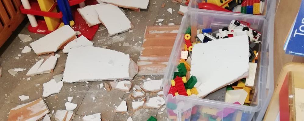 Crollo del soffitto a Verceia: asilo sotto sequestro, documenti prelevati