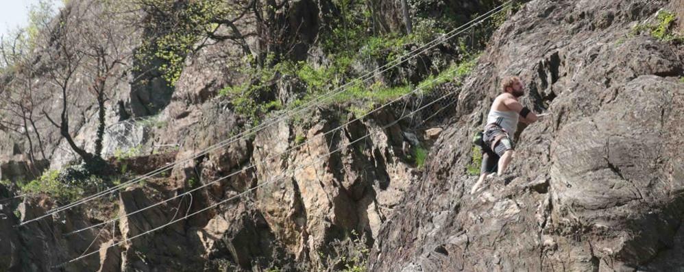 Palestra di roccia alla Sassella, il sogno è realtà
