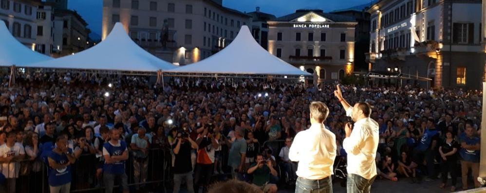 Elezioni comunali, Salvini a Sondrio: «Andate a votare per il centrodestra»