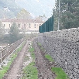 Sponda dell'Adda a Morbegno, lavori in corso anti esondazione