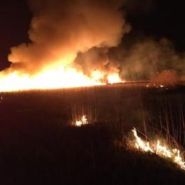 Incendio doloso  al Pian di Spagna