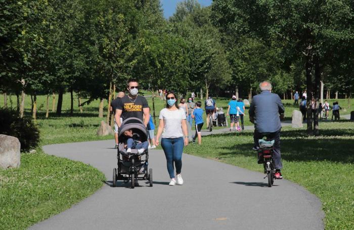 Sondrio Coronavirus fase due domenica al Parco Bartesaghi