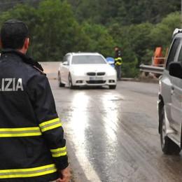 Frana a Chiavenna  Pista provvisoria  in attesa dei lavori